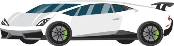 vector vehicle graphics - Flat Car, Truck, Bicycle, Plane Graphics Mega Bundle - Sport Car 10