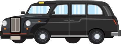 vector vehicle graphics - Flat Car, Truck, Bicycle, Plane Graphics Mega Bundle - Taxi Car 1