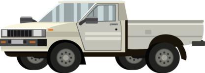 vector vehicle graphics - Flat Car, Truck, Bicycle, Plane Graphics Mega Bundle - Pickup Car 1