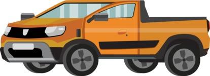vector vehicle graphics - Flat Car, Truck, Bicycle, Plane Graphics Mega Bundle - Pickup Car 2