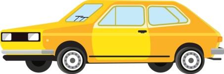 vector vehicle graphics - Flat Car, Truck, Bicycle, Plane Graphics Mega Bundle - Retro Car 5