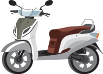 vector vehicle graphics - Flat Car, Truck, Bicycle, Plane Graphics Mega Bundle - Scooter 4