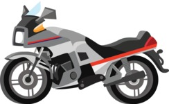 vector vehicle graphics - Flat Car, Truck, Bicycle, Plane Graphics Mega Bundle - Motorcycle 2