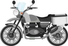 vector vehicle graphics - Flat Car, Truck, Bicycle, Plane Graphics Mega Bundle - Motorcycle 4