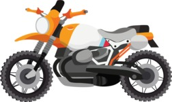 vector vehicle graphics - Flat Car, Truck, Bicycle, Plane Graphics Mega Bundle - Motorcycle 6