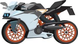 vector vehicle graphics - Flat Car, Truck, Bicycle, Plane Graphics Mega Bundle - Motorcycle 7