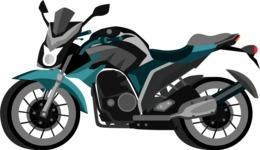 vector vehicle graphics - Flat Car, Truck, Bicycle, Plane Graphics Mega Bundle - Motorcycle 9