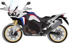 vector vehicle graphics - Flat Car, Truck, Bicycle, Plane Graphics Mega Bundle - Motorcycle 10