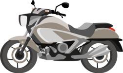 vector vehicle graphics - Flat Car, Truck, Bicycle, Plane Graphics Mega Bundle - Motorcycle 11