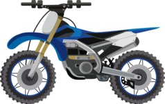 vector vehicle graphics - Flat Car, Truck, Bicycle, Plane Graphics Mega Bundle - Motorcycle 12