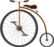 vector vehicle graphics - Flat Car, Truck, Bicycle, Plane Graphics Mega Bundle - Bike 2
