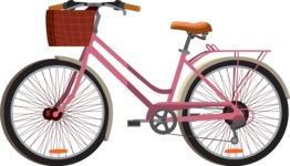 vector vehicle graphics - Flat Car, Truck, Bicycle, Plane Graphics Mega Bundle - Bike 4