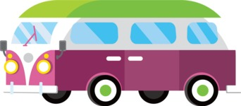 vector vehicle graphics - Flat Car, Truck, Bicycle, Plane Graphics Mega Bundle - Retro Car 7