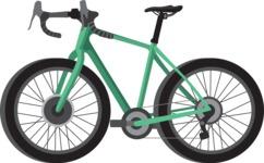 vector vehicle graphics - Flat Car, Truck, Bicycle, Plane Graphics Mega Bundle - Bike 6