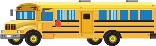 vector vehicle graphics - Flat Car, Truck, Bicycle, Plane Graphics Mega Bundle - School Bus 1