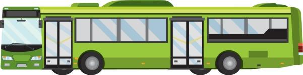 vector vehicle graphics - Flat Car, Truck, Bicycle, Plane Graphics Mega Bundle - Public Bus 1
