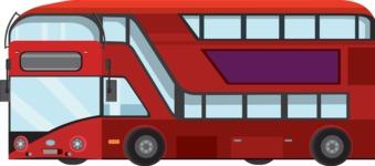 vector vehicle graphics - Flat Car, Truck, Bicycle, Plane Graphics Mega Bundle - Public Bus 2