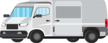 vector vehicle graphics - Flat Car, Truck, Bicycle, Plane Graphics Mega Bundle - Delivery Truck 1