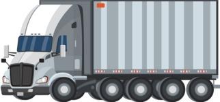 vector vehicle graphics - Flat Car, Truck, Bicycle, Plane Graphics Mega Bundle - Truck 1