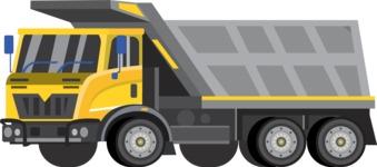 vector vehicle graphics - Flat Car, Truck, Bicycle, Plane Graphics Mega Bundle - Truck 2