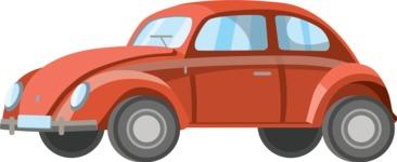 vector vehicle graphics - Flat Car, Truck, Bicycle, Plane Graphics Mega Bundle - Retro Car 8