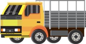 vector vehicle graphics - Flat Car, Truck, Bicycle, Plane Graphics Mega Bundle - Truck 3