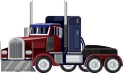 vector vehicle graphics - Flat Car, Truck, Bicycle, Plane Graphics Mega Bundle - Truck 5