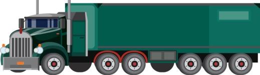 vector vehicle graphics - Flat Car, Truck, Bicycle, Plane Graphics Mega Bundle - Truck 6