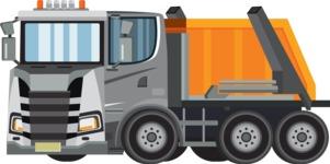 vector vehicle graphics - Flat Car, Truck, Bicycle, Plane Graphics Mega Bundle - Truck 7