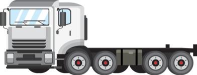 vector vehicle graphics - Flat Car, Truck, Bicycle, Plane Graphics Mega Bundle - Truck 8