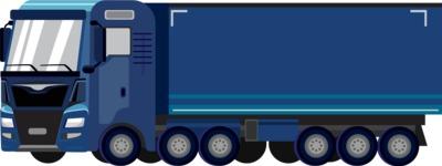 vector vehicle graphics - Flat Car, Truck, Bicycle, Plane Graphics Mega Bundle - Truck 9
