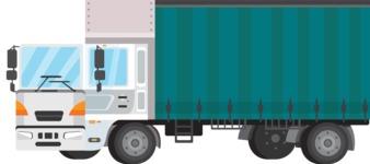 vector vehicle graphics - Flat Car, Truck, Bicycle, Plane Graphics Mega Bundle - Truck 10