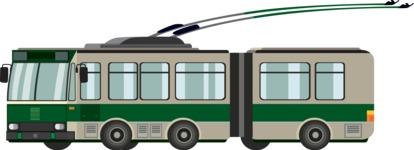 vector vehicle graphics - Flat Car, Truck, Bicycle, Plane Graphics Mega Bundle - Trolley 1