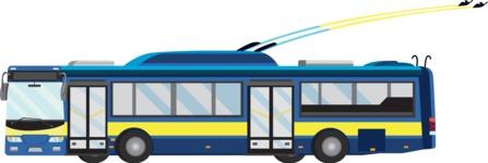 vector vehicle graphics - Flat Car, Truck, Bicycle, Plane Graphics Mega Bundle - Trolley 2