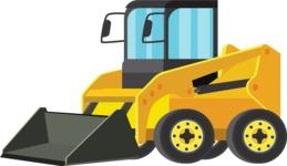 vector vehicle graphics - Flat Car, Truck, Bicycle, Plane Graphics Mega Bundle - Construction 1