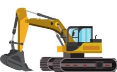 vector vehicle graphics - Flat Car, Truck, Bicycle, Plane Graphics Mega Bundle - Construction 2