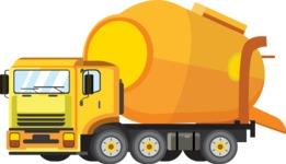 vector vehicle graphics - Flat Car, Truck, Bicycle, Plane Graphics Mega Bundle - Construction 3
