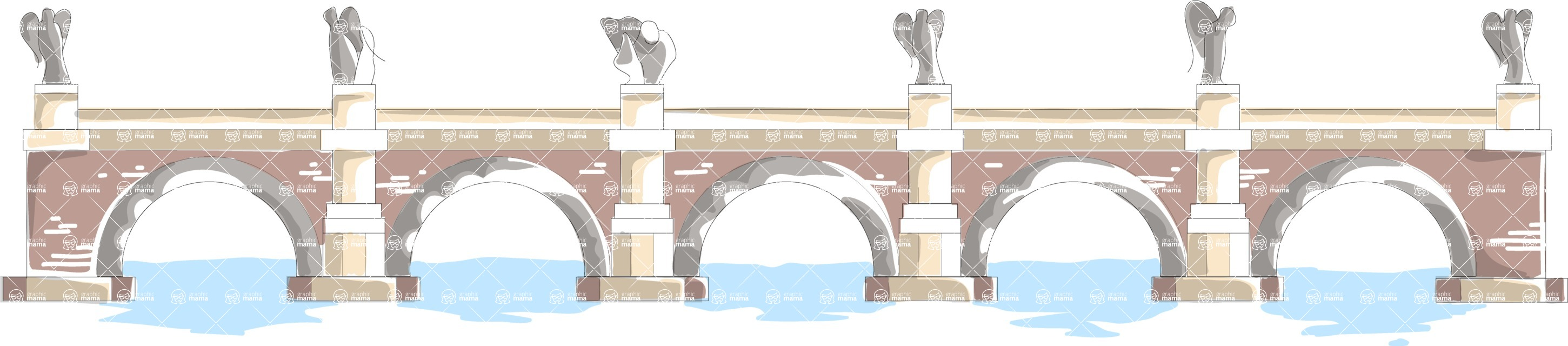 Italy Themed Graphic Collection - Architecture 1