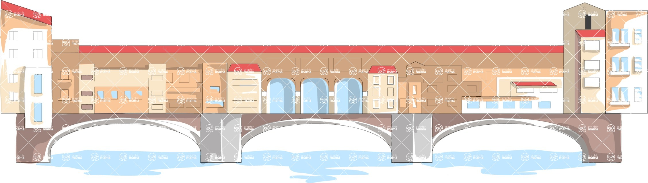 Italy Themed Graphic Collection - Architecture 25