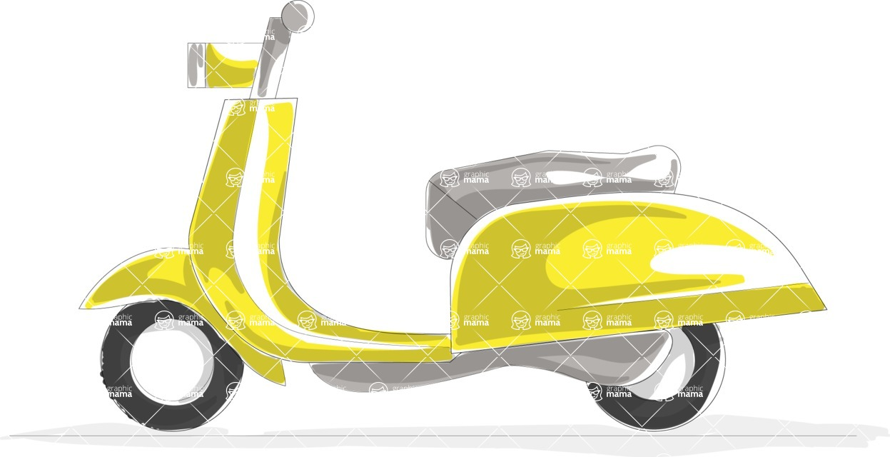 Italy Themed Graphic Collection - Transport 19