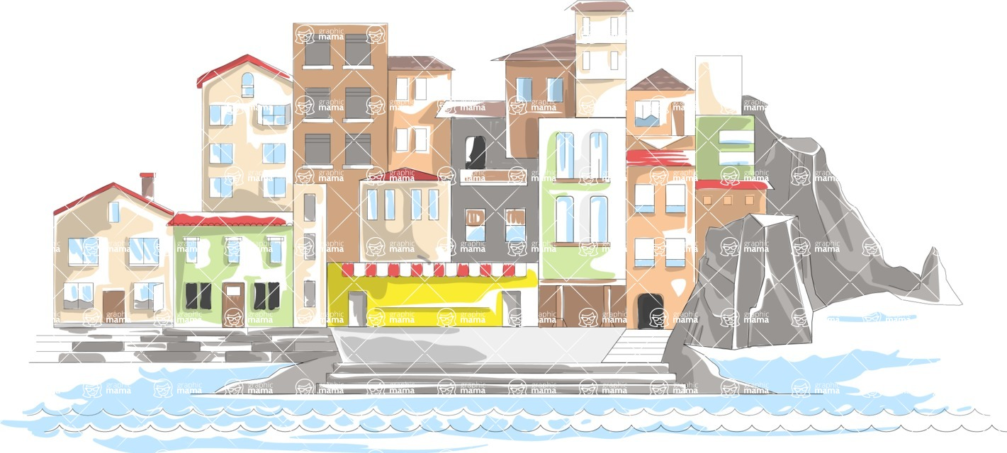 Italy Themed Graphic Collection - Landscape 7