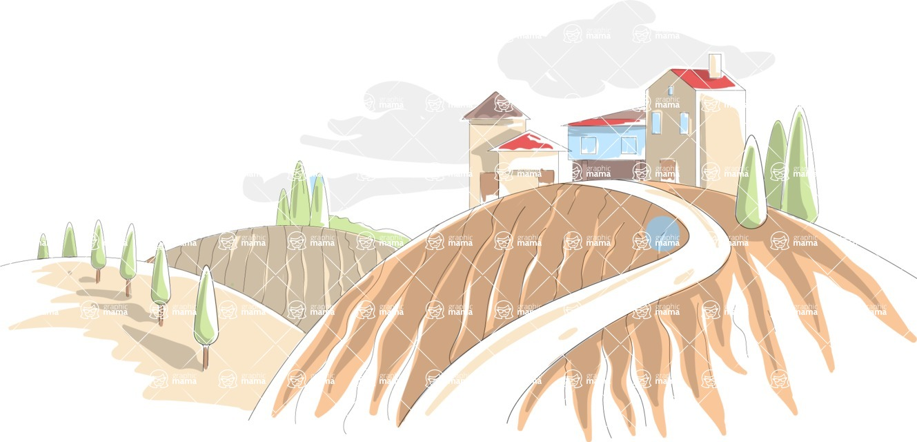 Italy Themed Graphic Collection - Landscape 10