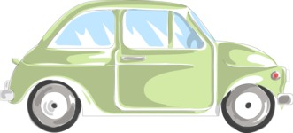 Italy Themed Graphic Collection - Car Vector Illustration