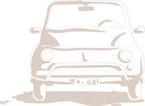Italy Themed Graphic Collection - Vintage Car Vector Graphic