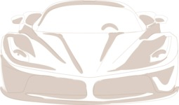 Italy Themed Graphic Collection - Hand Drawn Sports Car