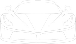 Italy Themed Graphic Collection - Sports Car Vector Outline Graphic