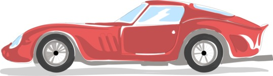 Italy Themed Graphic Collection - Sports Car Drawing Vector