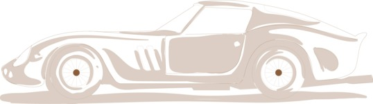 Italy Themed Graphic Collection - Sports Car Silhouette Vector