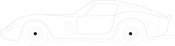 Italy Themed Graphic Collection - Sports Car Outline Illustration