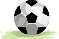 Italy Themed Graphic Collection - Soccer Ball Vector Illustration